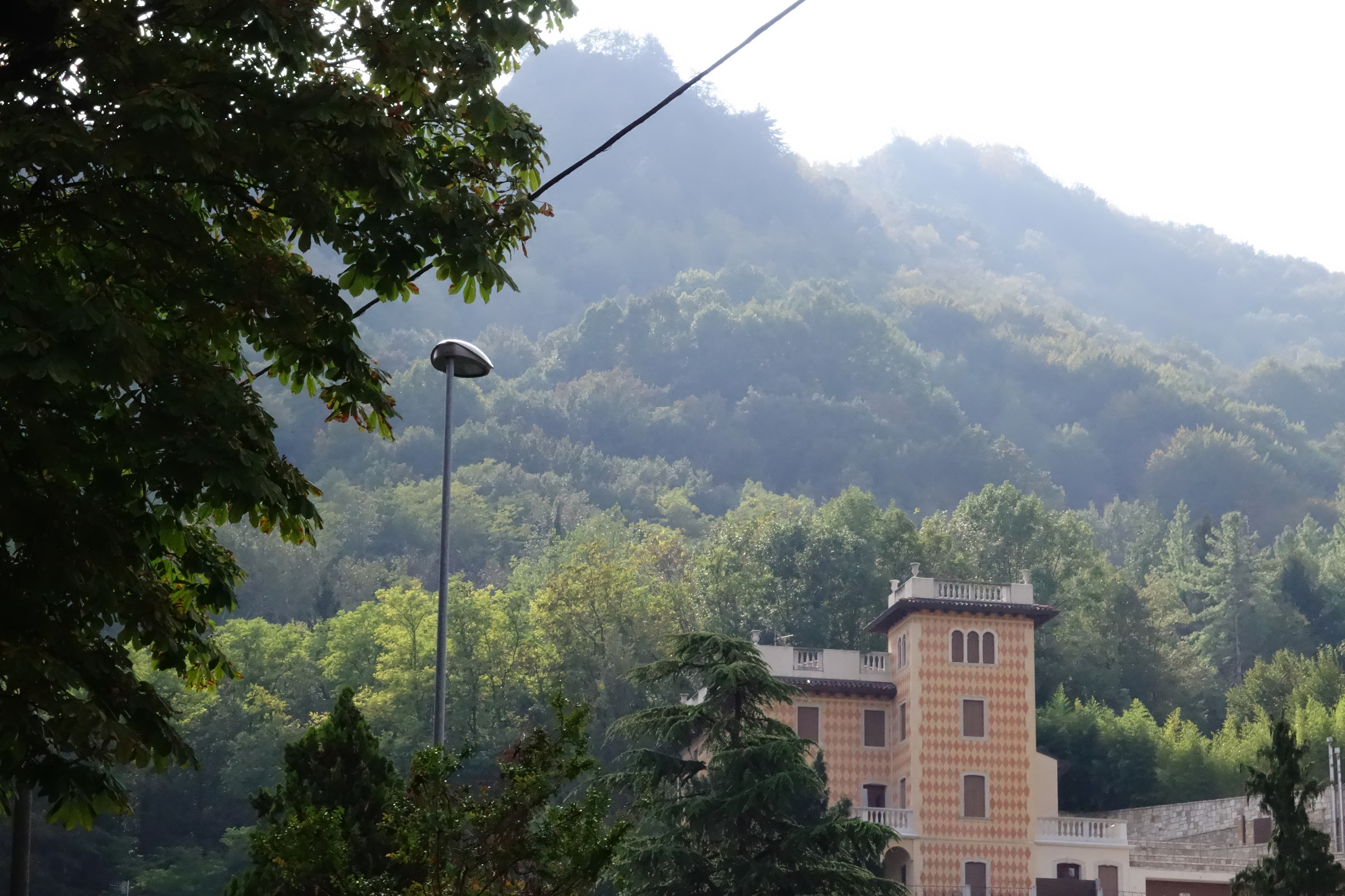 """The Alps start just at the edge of the """"old"""" part of Vittorio."""