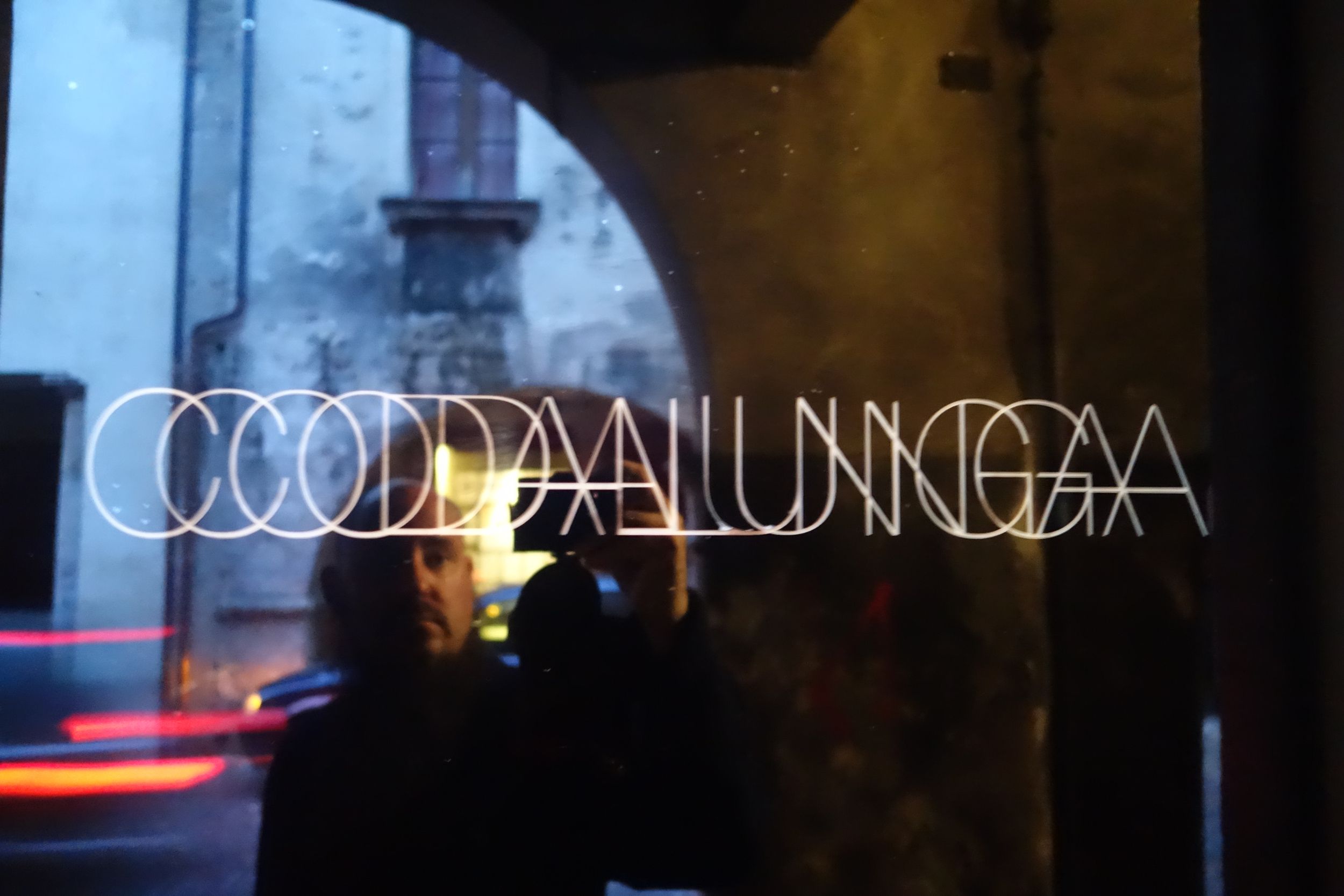 Nico Vascellari's studio, converted into a makeshift venue / courtyard / bar.