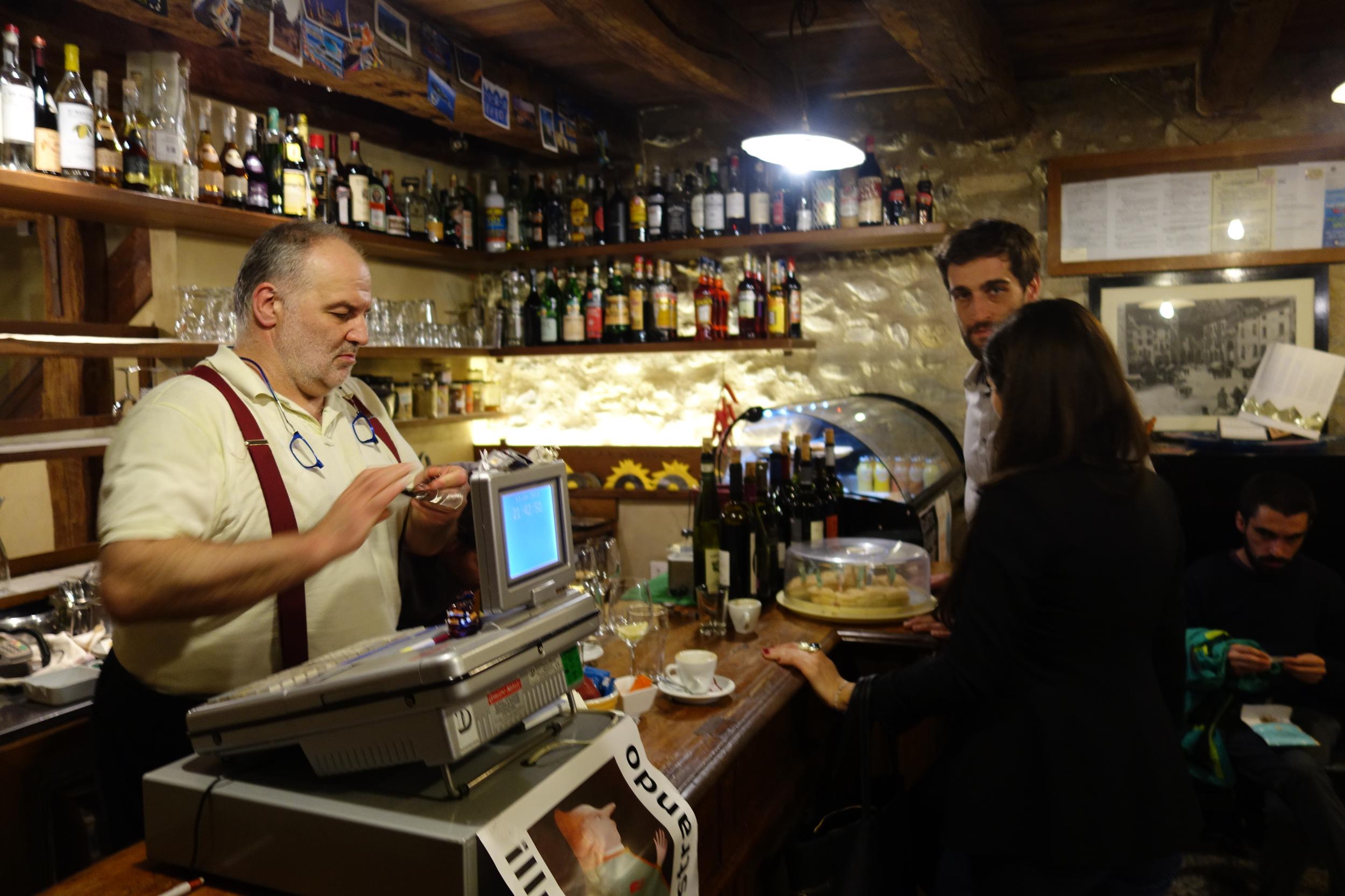 Maitre D, Francesca, & Riccardo at Trattoria alla Cerva.
