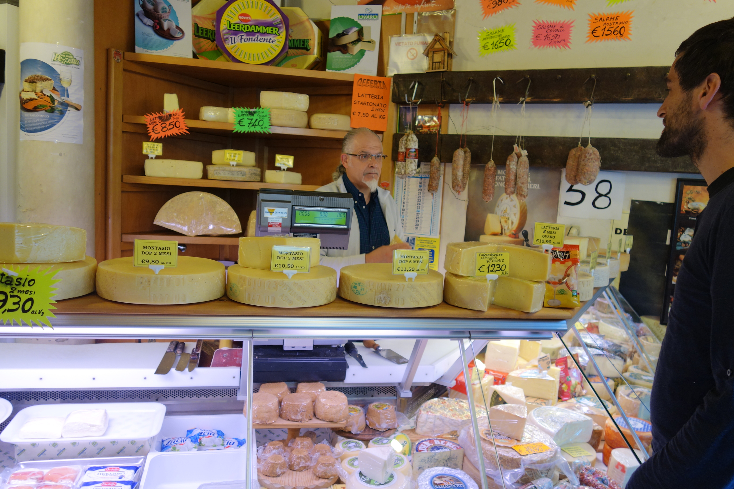 Classiest cheese shop owner as well...