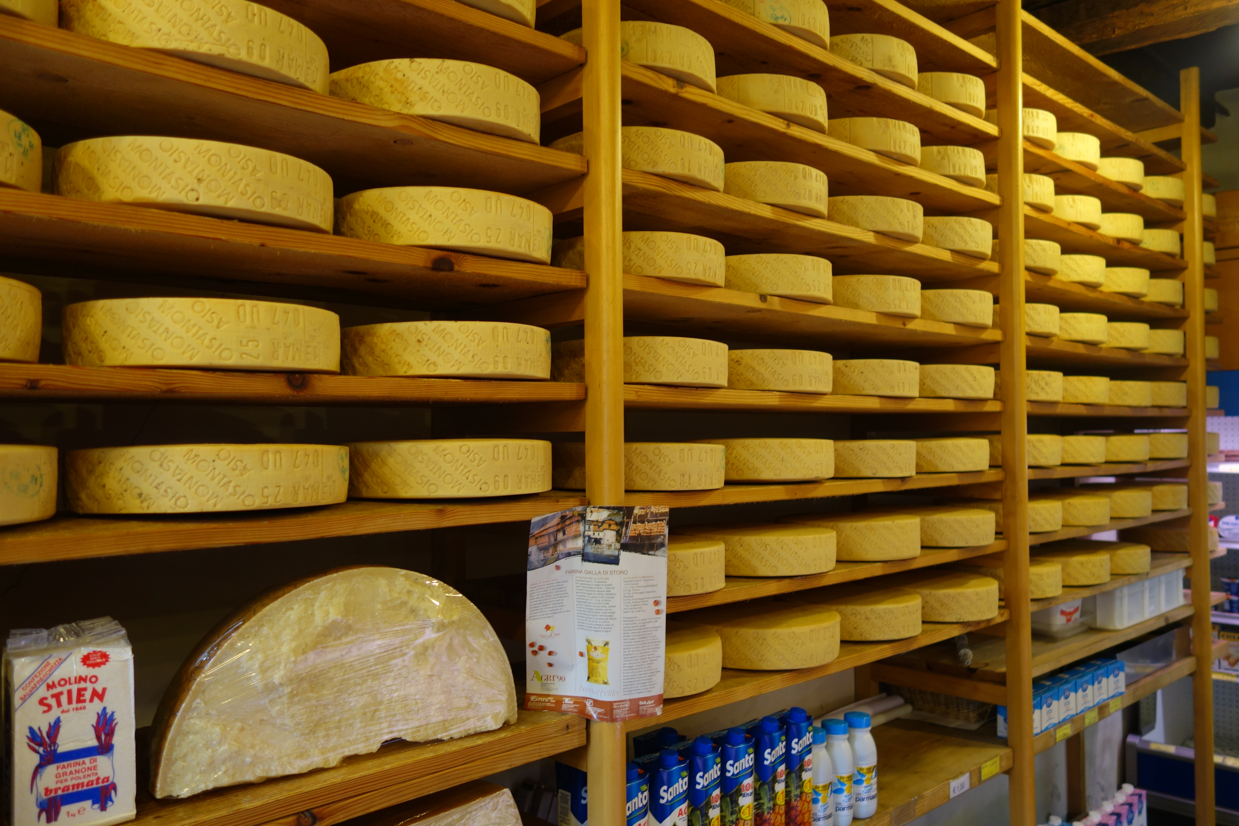 Cheese shop in Vittorio, completely bonkers. Walked out of there with 2K of Piave & Montalvio for €20.