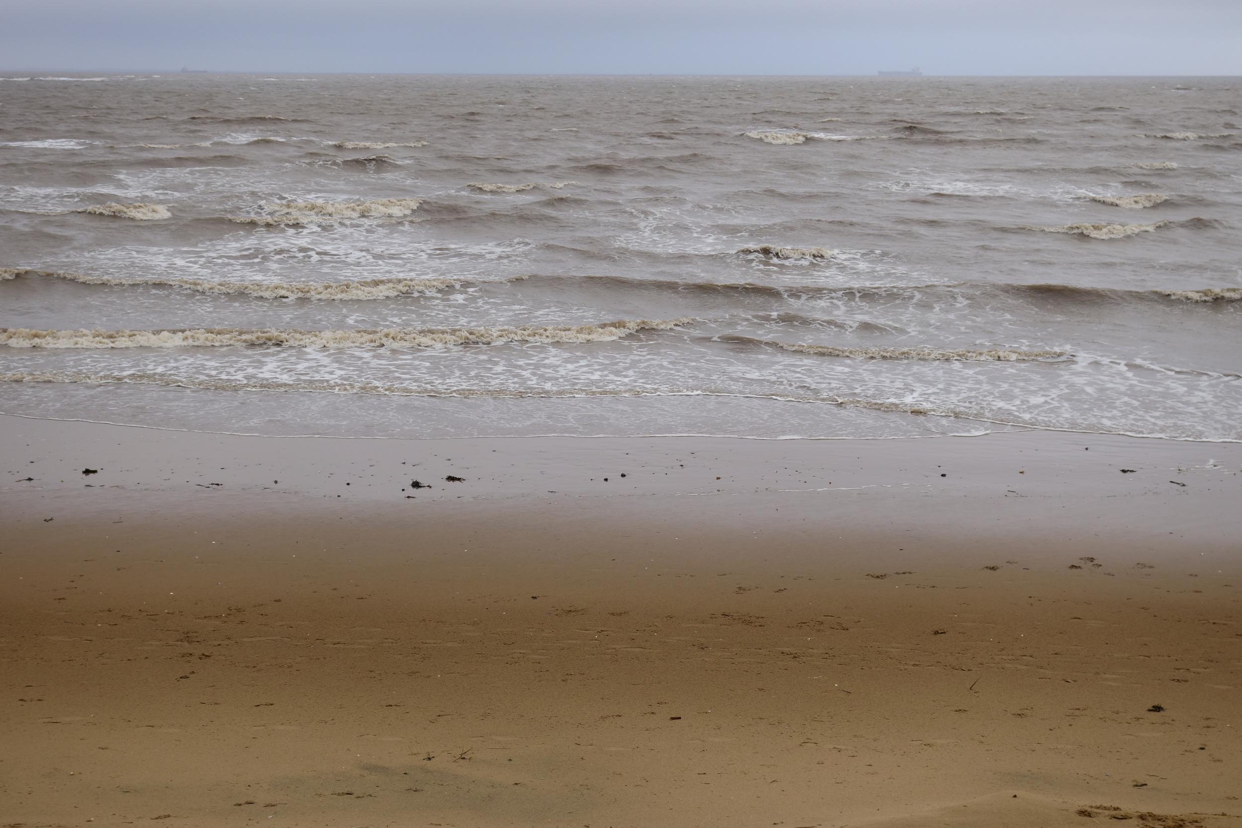 Cleethorpes beach.