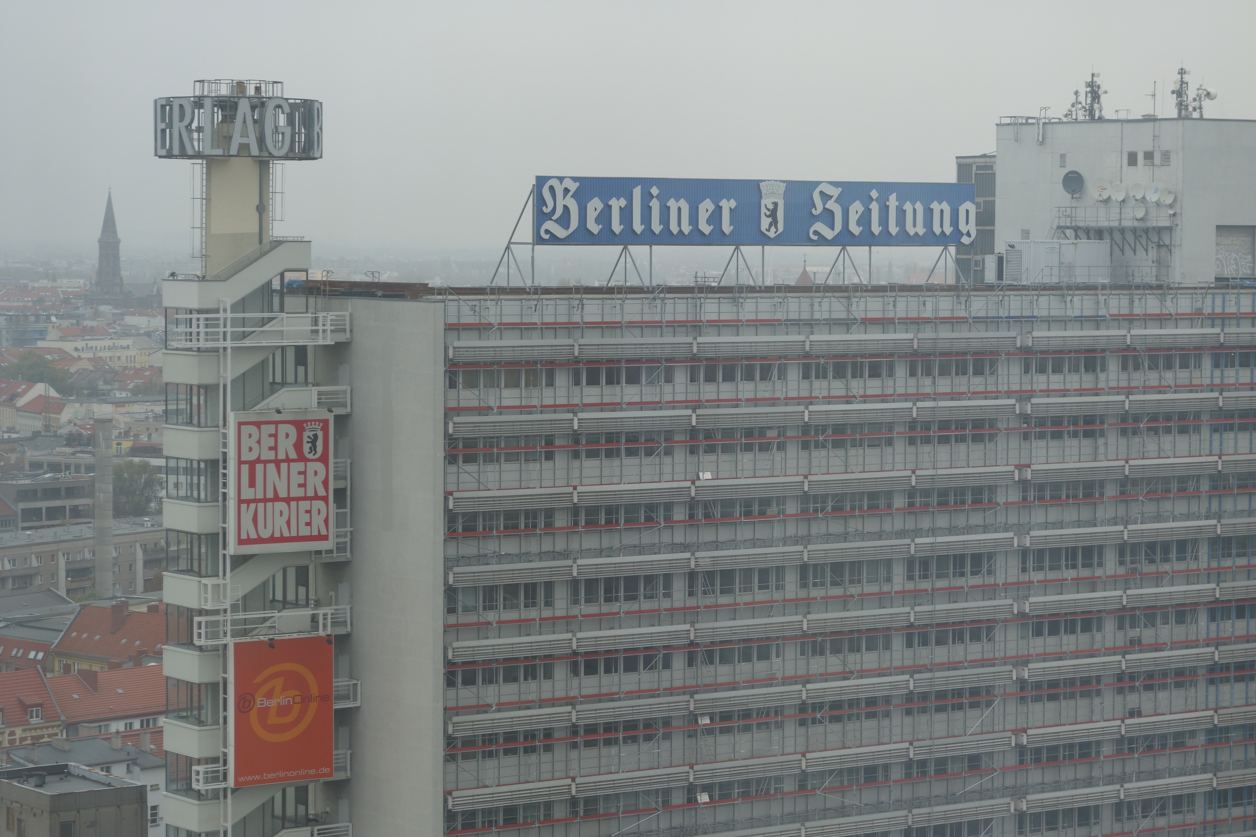 I came back to the US for a week, then headed straight to Berlin - here's the view from my upper-floor Park Inn Alexanderplatz room.