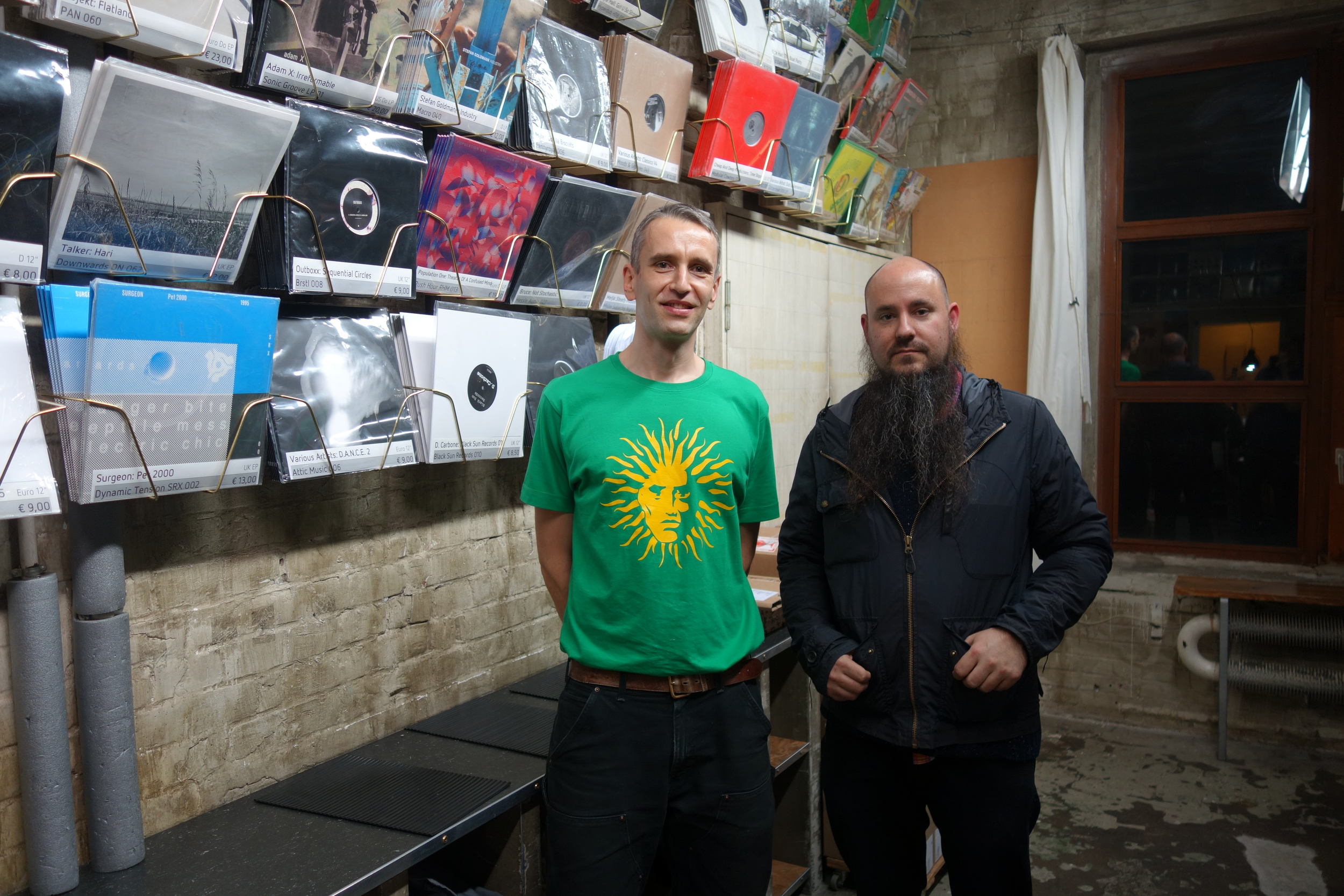 """Reconnected with Torsten Pröfrock, aka """"Various Artists"""" & T++ - one of the first people I met in Berlin when I came to play Podewil in 2000, and still one of my all-time favorite producers."""
