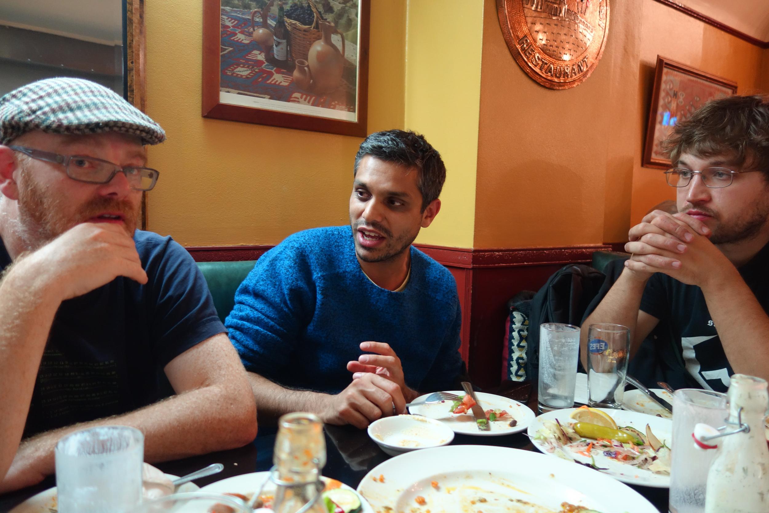 Had a really nice meal at Mangal with Mark, Harun Mirza, Richard Sides, and Thomas before the gig.