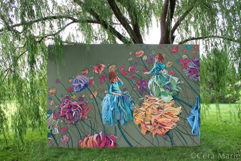 """Awaken the Garden     acrylic and oil      96x144"""""""