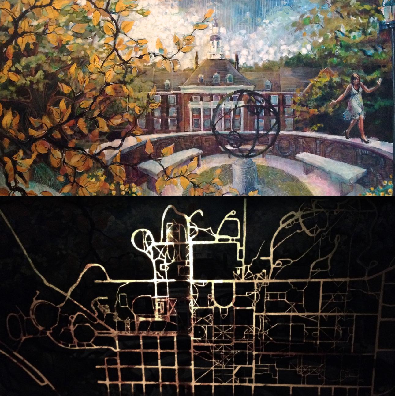 """Love & Honor, MIami University"" - backlit acrylic on canvas. 24x48"""