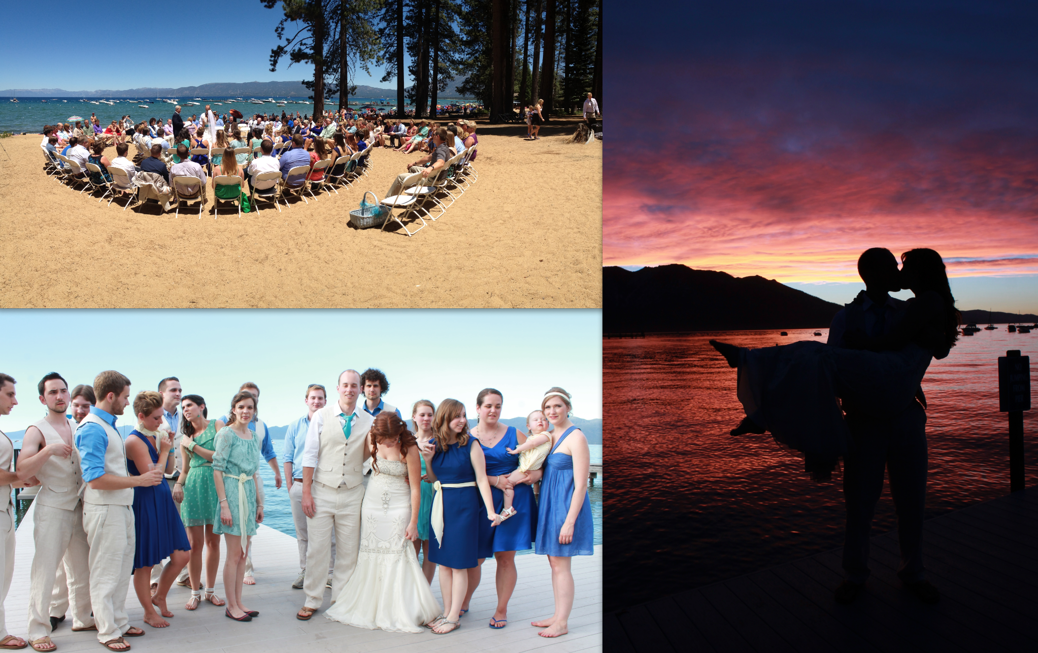 and shooting a june wedding on lake tahoe for tricia :]