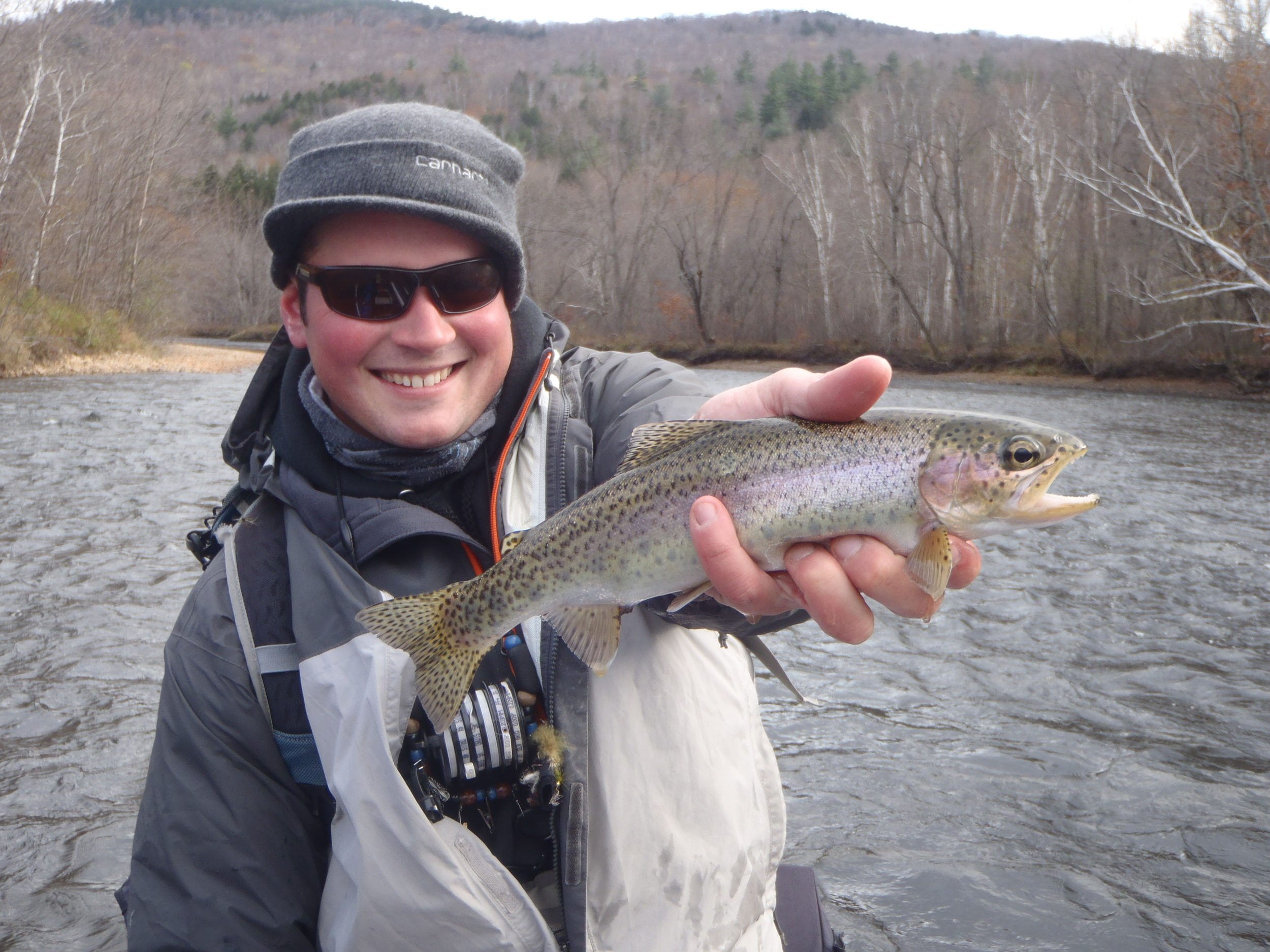 Greg with a cold rainbow.