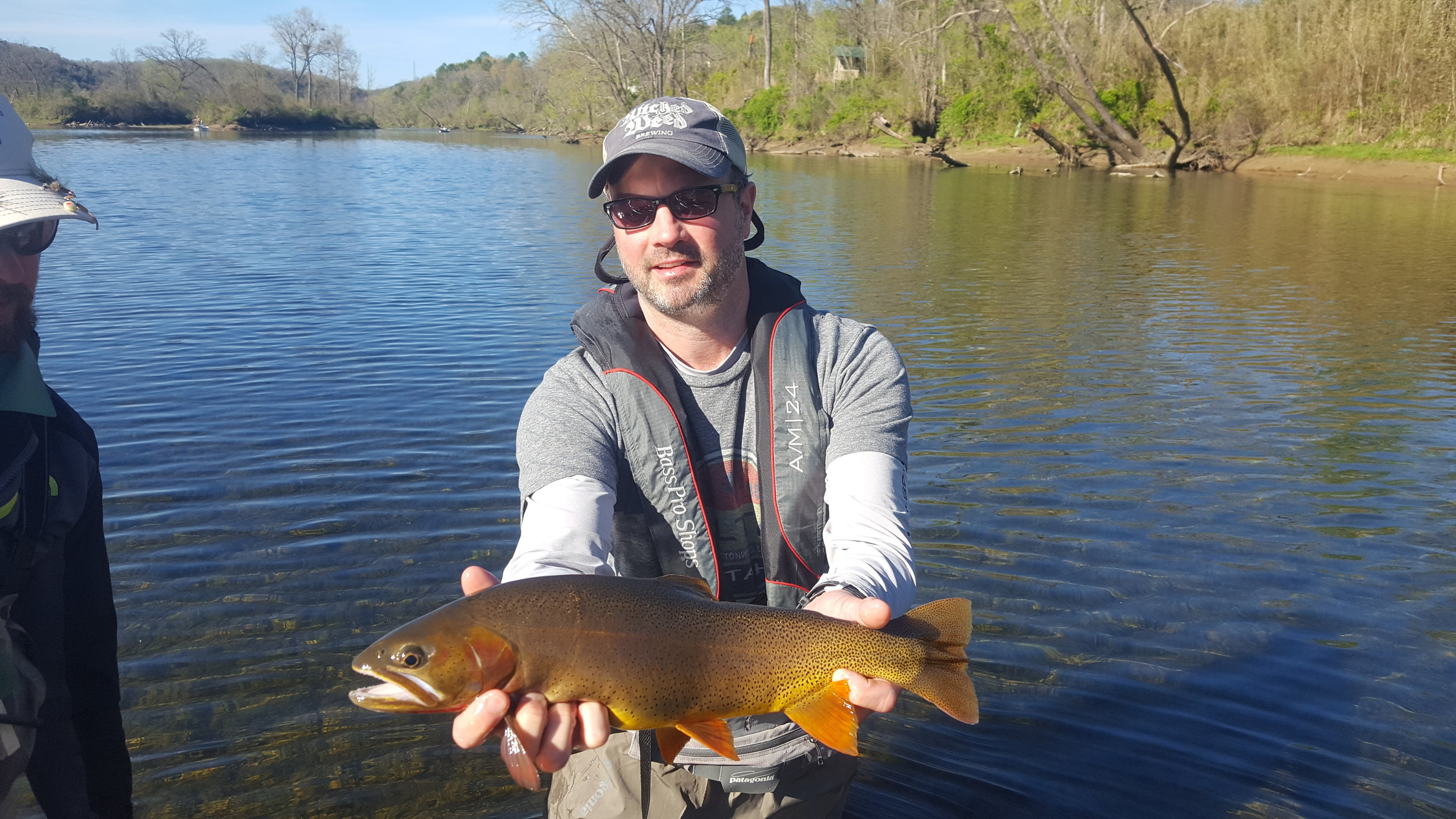 Client Matt Dormer with a healthy cutthroat trout...fish like these were common this one sipped a foam Elk Hair caddis from the surface!