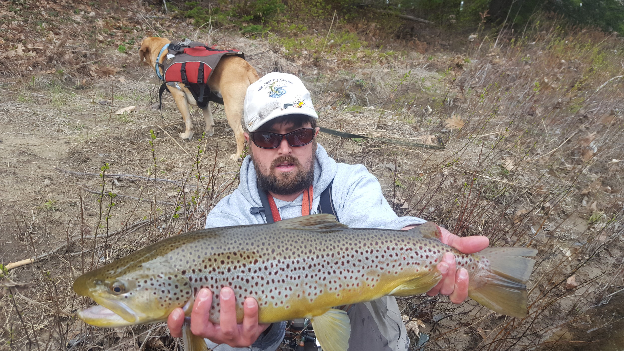 head guide Nate Hill with a Saco River monster.