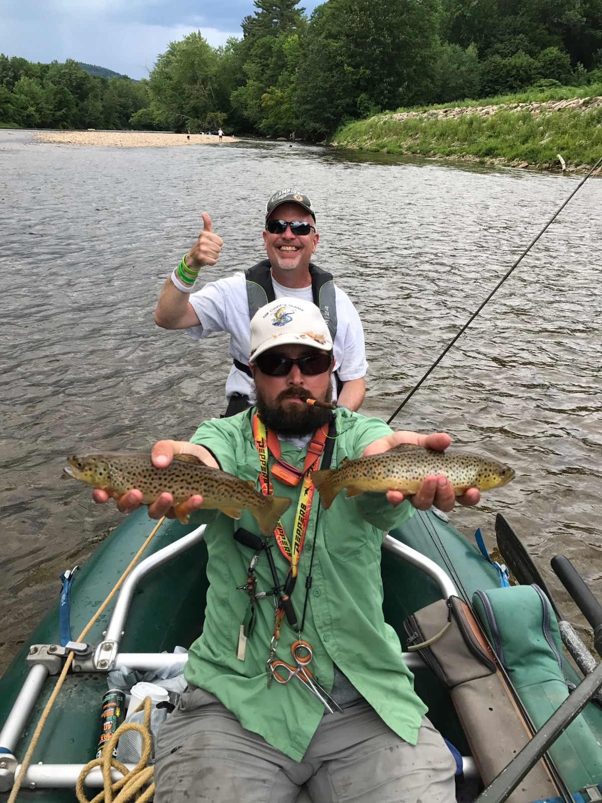One of many doubles we saw over the past few weeks. Fish ate gray drake emergers.