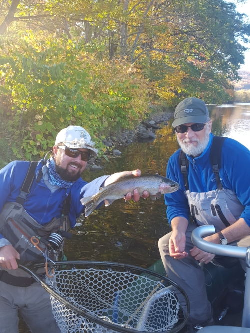 Typical October dry fly fish.