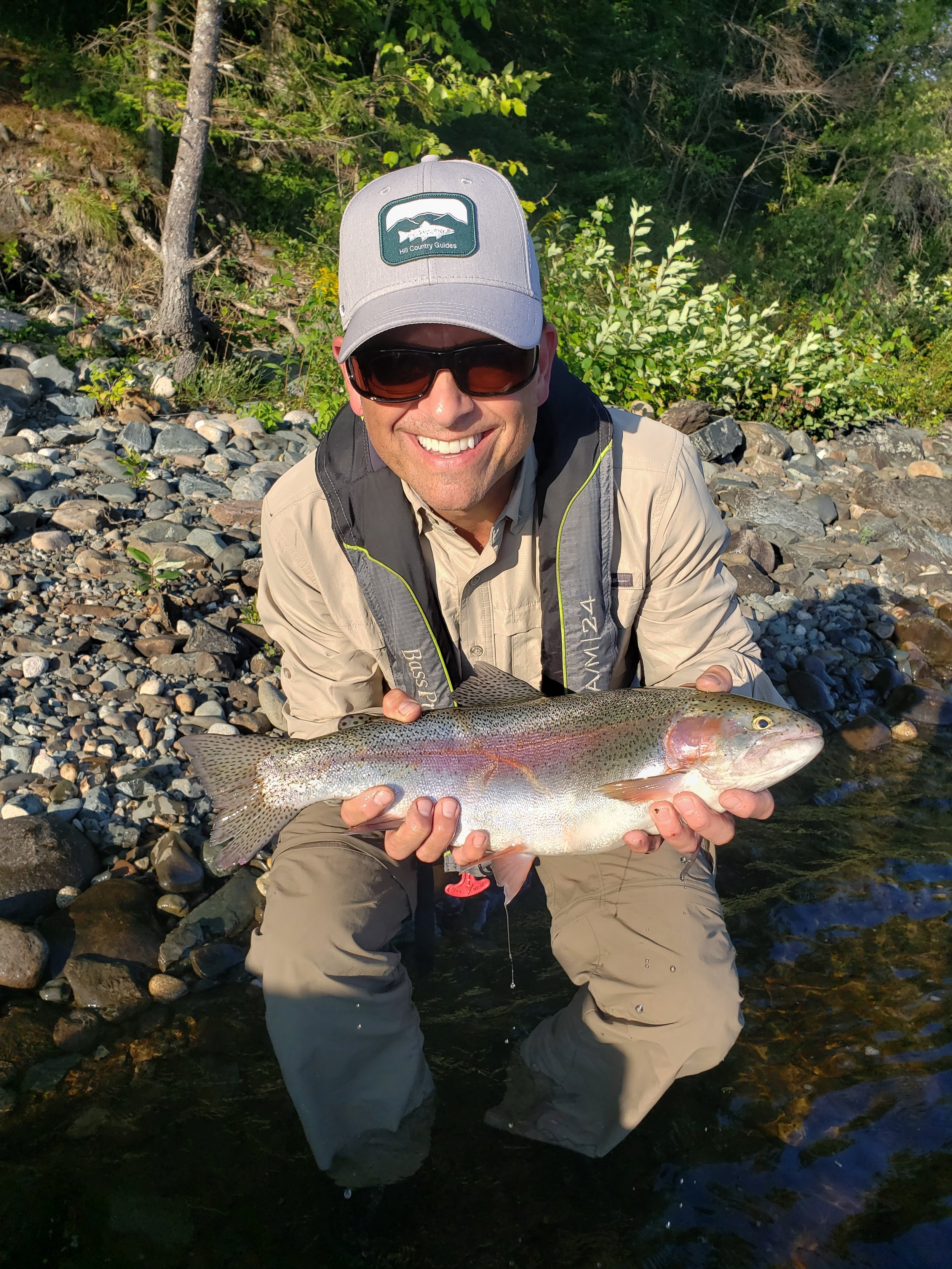 Michael Chalsen with a 4lb rainbow.