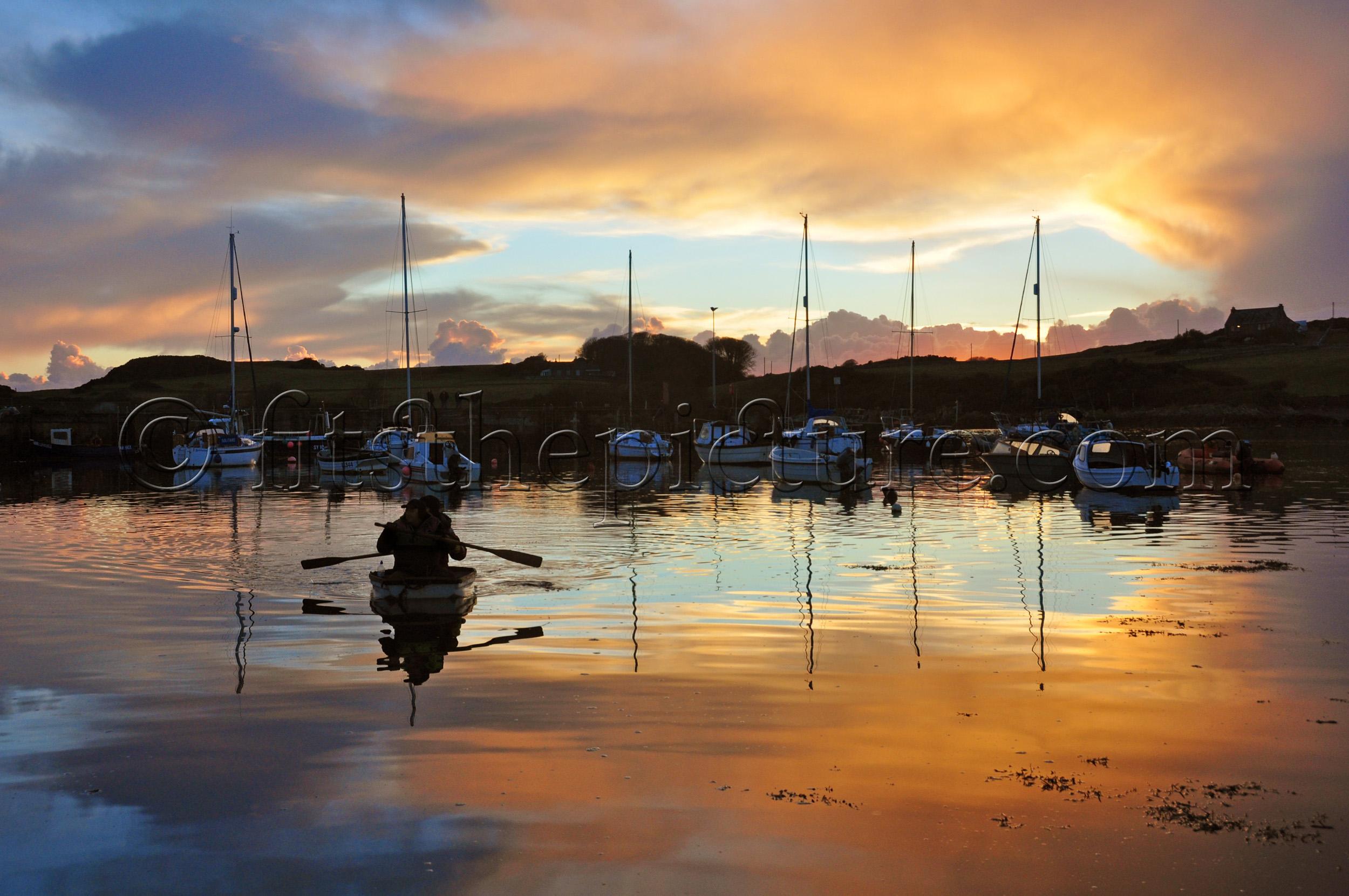 Isle of Whithorn sunset