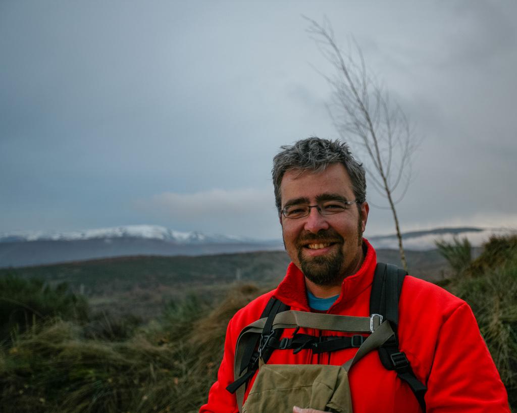 Hiking the Camino de Santiago in Spain.