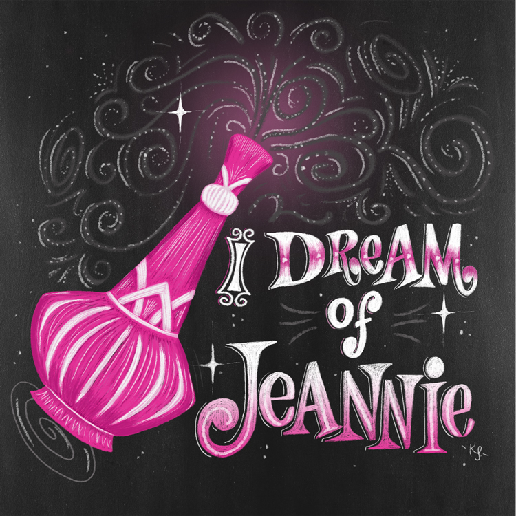 As a kiddo, I Dream of Jeannie was a fun show I loved to watch.  Even though it wrapped up in 1970, I grew up watching the reruns. What I always loved about this show was Jeannie of course and Jeannie's bottle. Oh how I dreamed of being able to go hang out with her in her bottle and lounge on all her pretty pink pillows.  From a little girls perspective it was pure and simple fun in a bottle. It really was dreamy to a tiny 5 year old. Although, I was too young for the humor I loved the outfits Jeannie wore and how pretty and pink everything was. Even to this day pink is very near and dear to my heart. Thanks Jeannie!  Did you have a show that made you dream as a child?