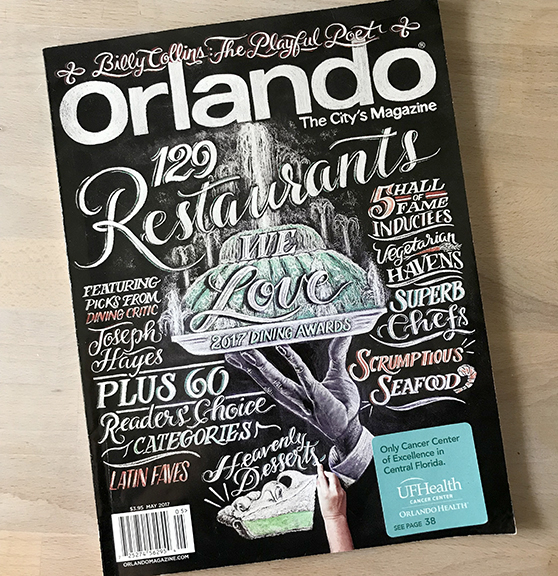 Chalkboard Mural Magazine Cover Design
