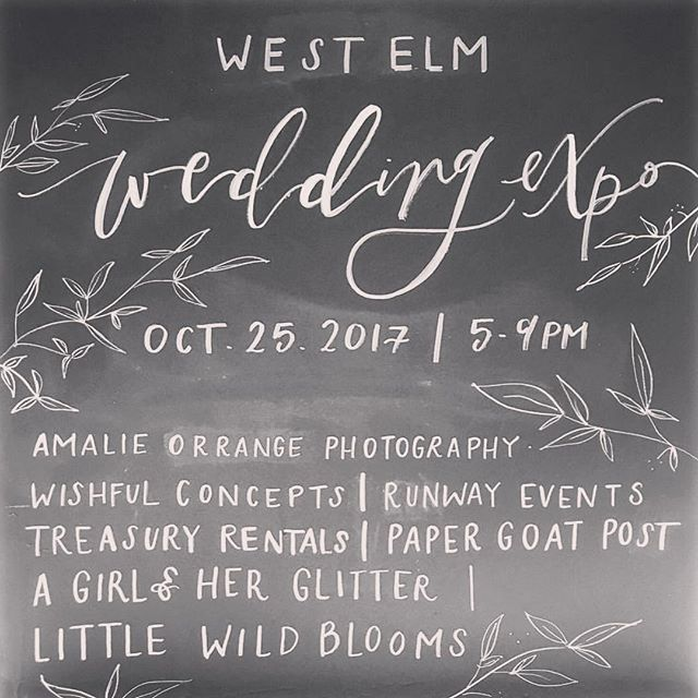 ✨Chalk Talk✨ Next Wednesday I will be at West Elm Orlando for their very first Wedding Expo! How cool is that??!! I will also be offering a chalk DIY. Snag a seat and let's create something pretty together. Seats are limited so reserve yours today under Events on KimPanella.com. {Link In Bio} 🥂🍾💍💋 #westelmorlando #chalk