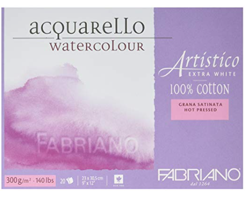 Fabriano Hot Press Watercolor paper