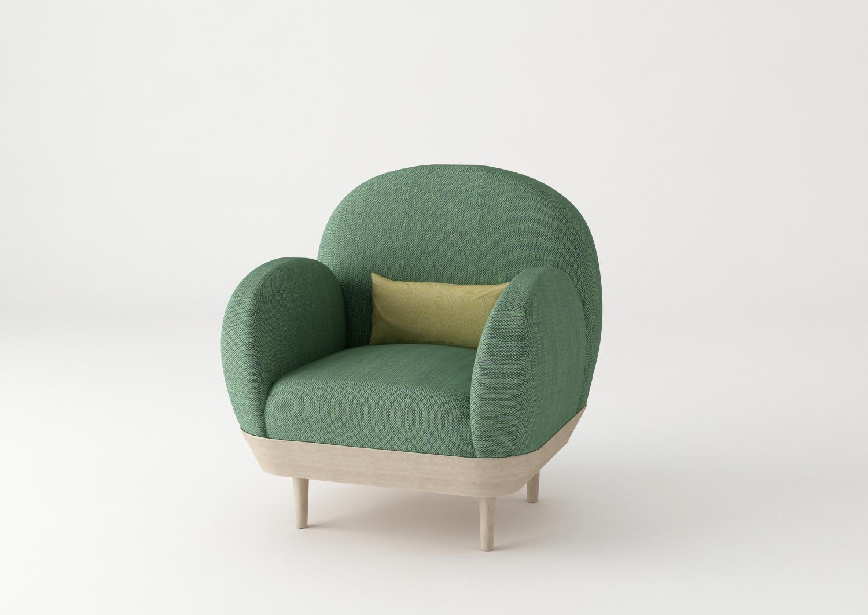 Basket sofa by SIlvia Ceñal