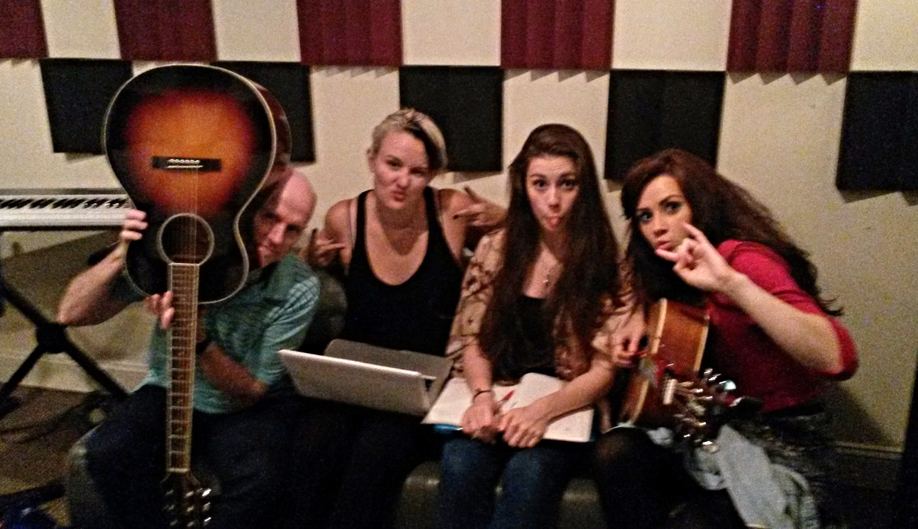 James, Gabriella, Me and Triona having fun in the studio at Belmont!