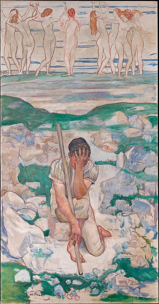 Ferdinand Hodler, The Dream of the Shepherd, Oil on canvas, 1896