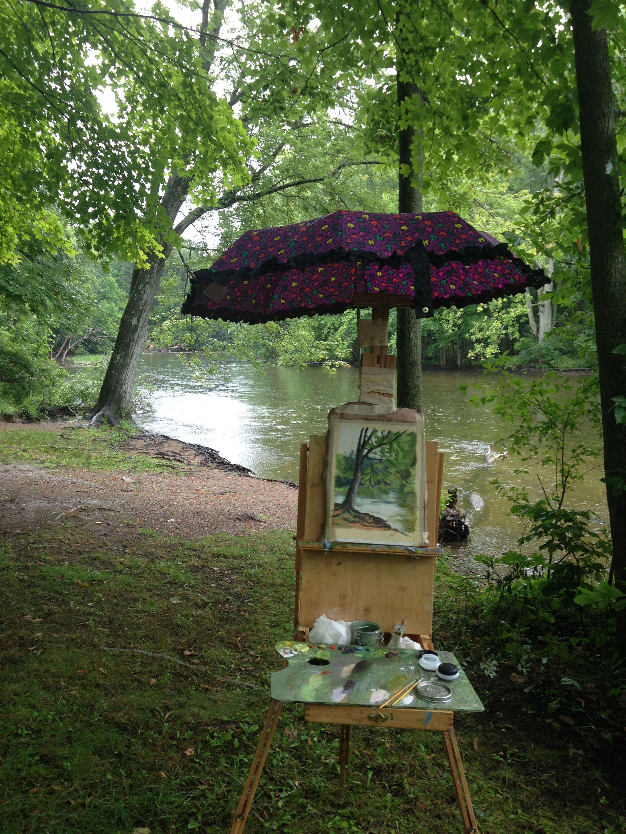 Paint Dexter Plein Air Festival in the Rain
