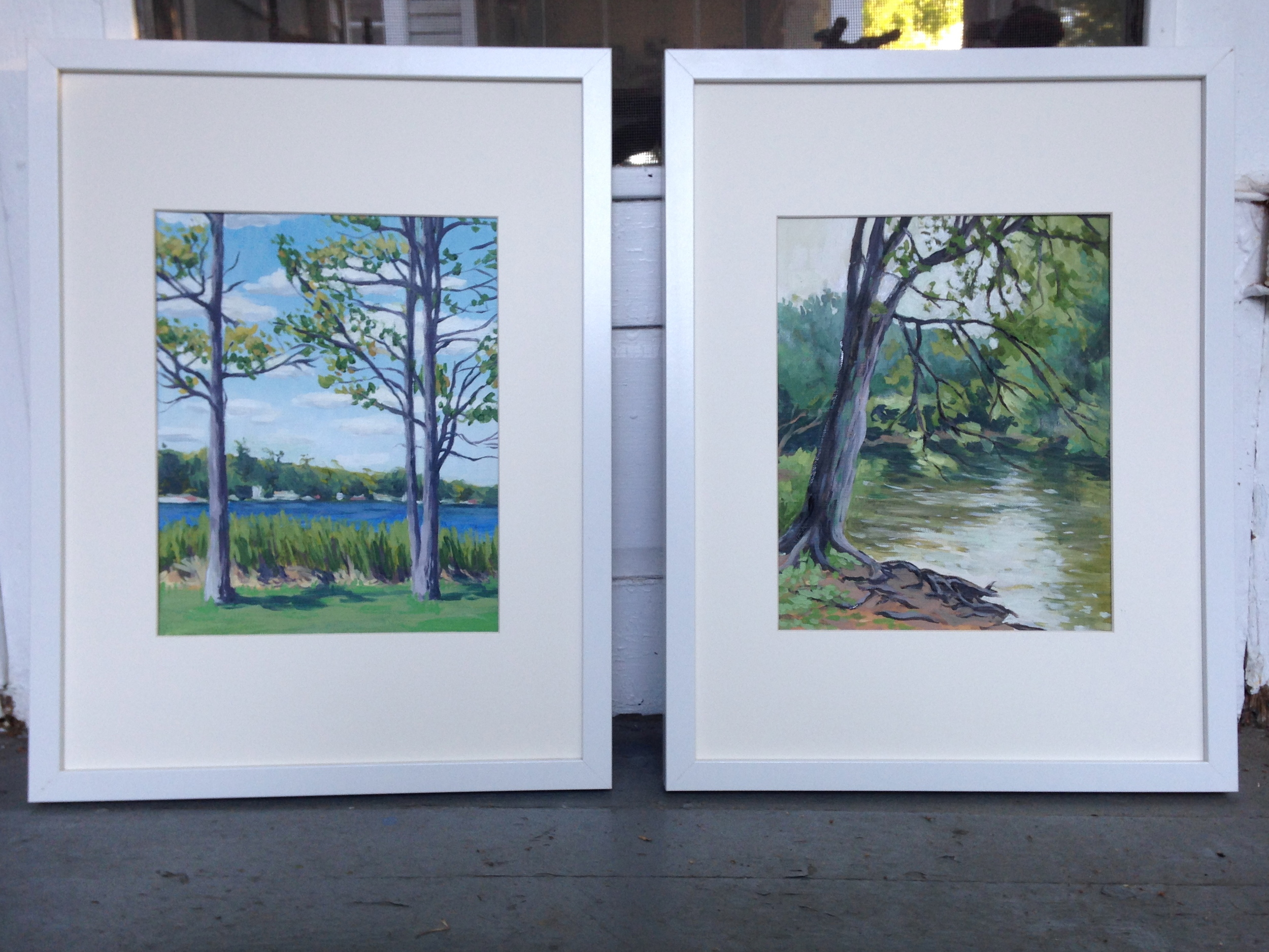 Two Small Paintings for the Paint Dexter Plein Air Festival
