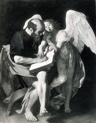 Michelangelo Caravaggio, Saint Matthew and the Angel, 1602