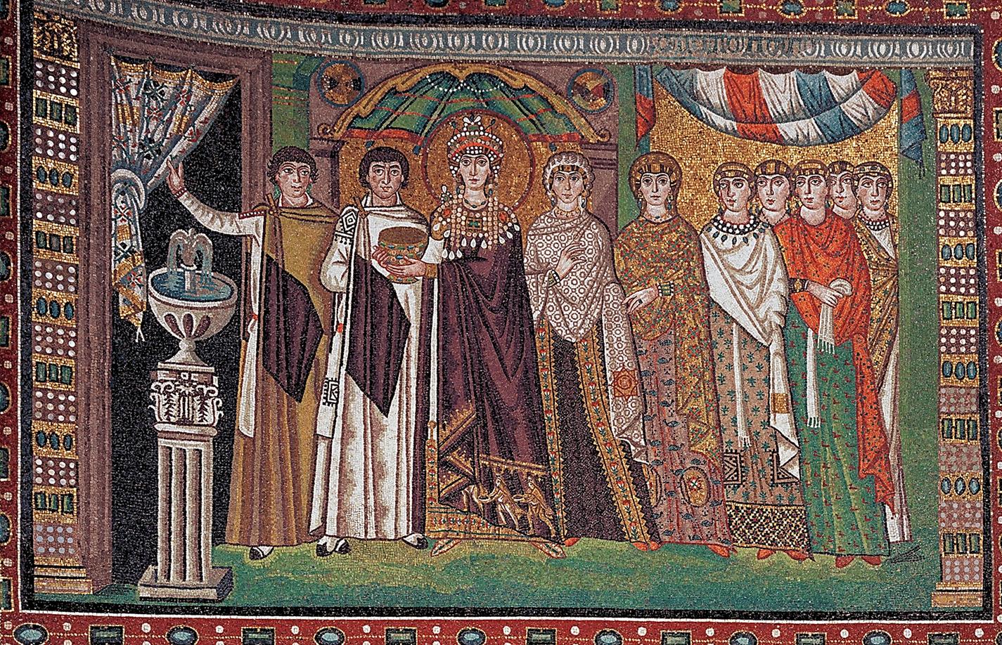 The Empress Theodora with her Retinue, mosaic, ca. 547