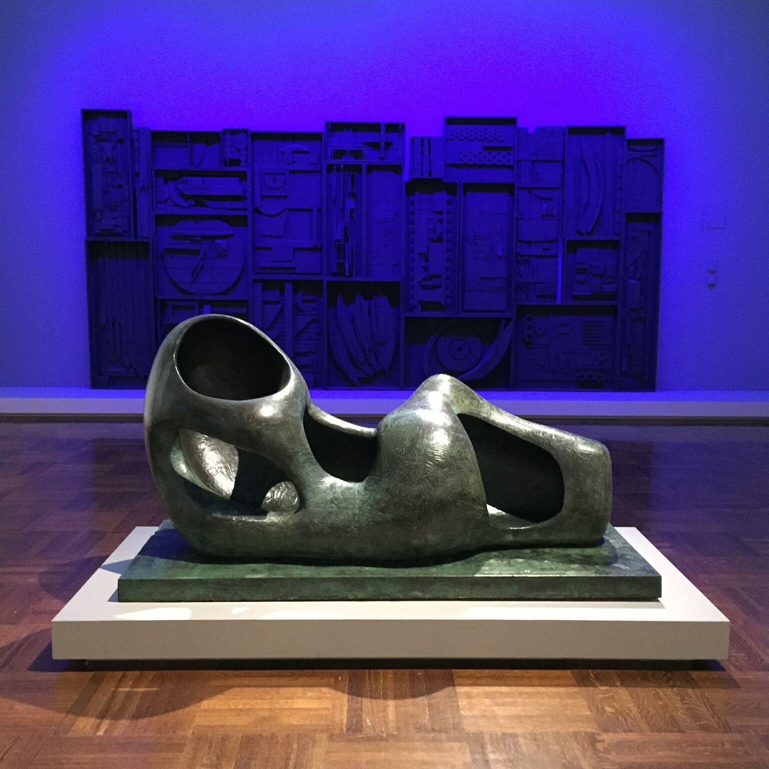 Henry Moore, Reclining Figure (External Form), Bronze, 1953-54