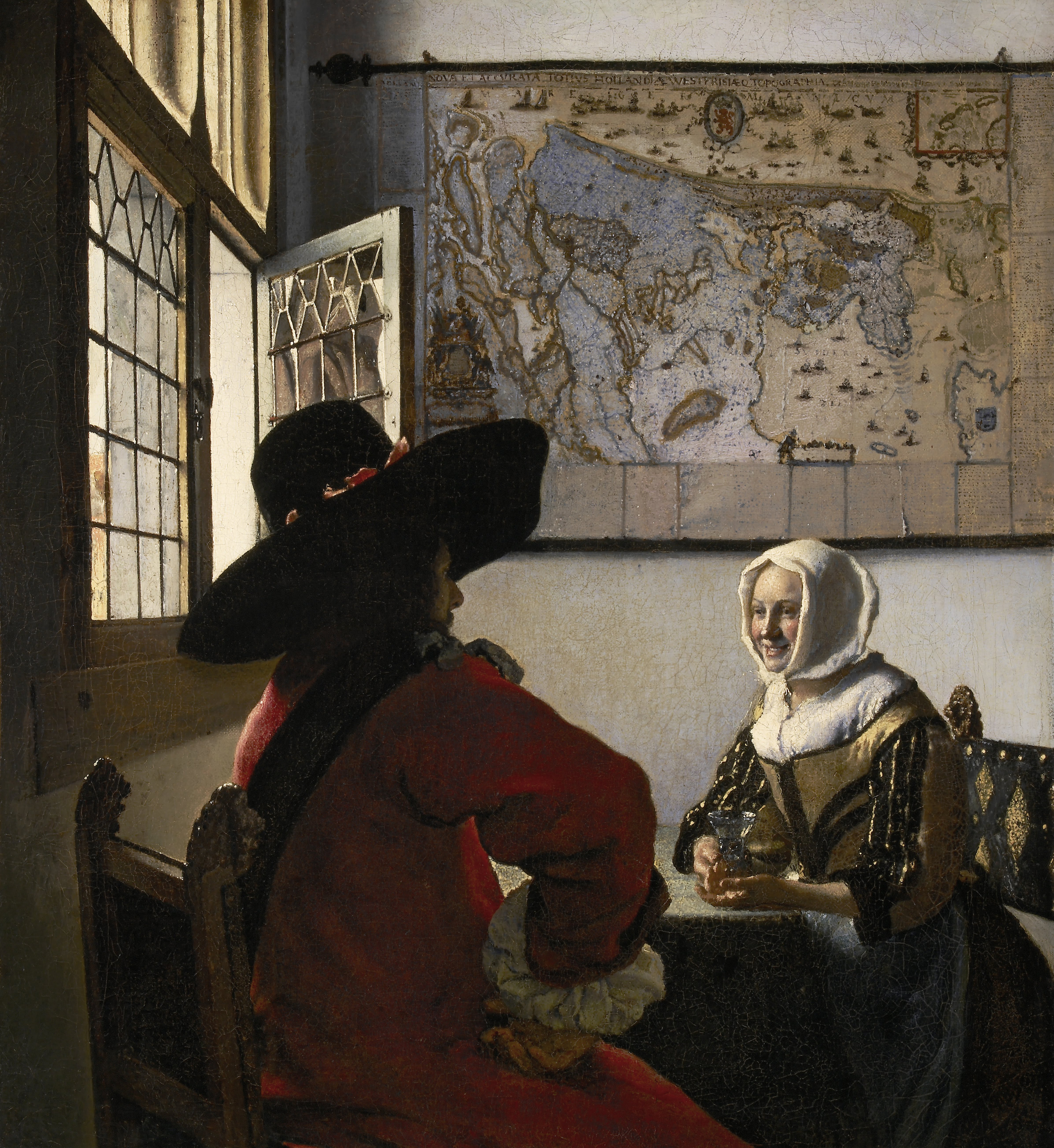 Johannes Vermeer, Officer and Laughing Girl, 1657, Oil on canvas