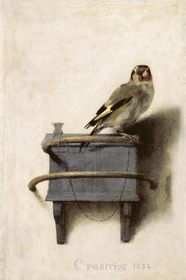 Carel Fabritius, The Goldfinch, 1654, Oil on panel