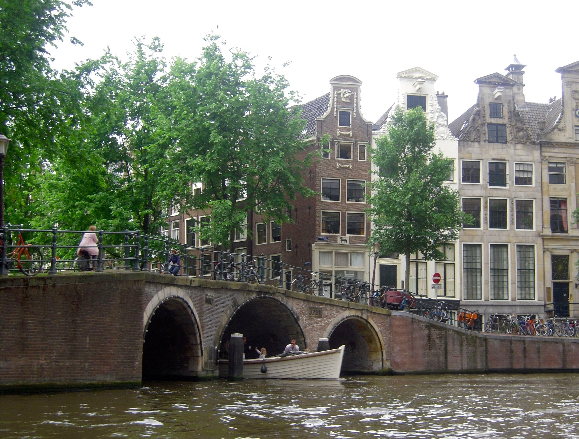 A canal in modern Amsterdam
