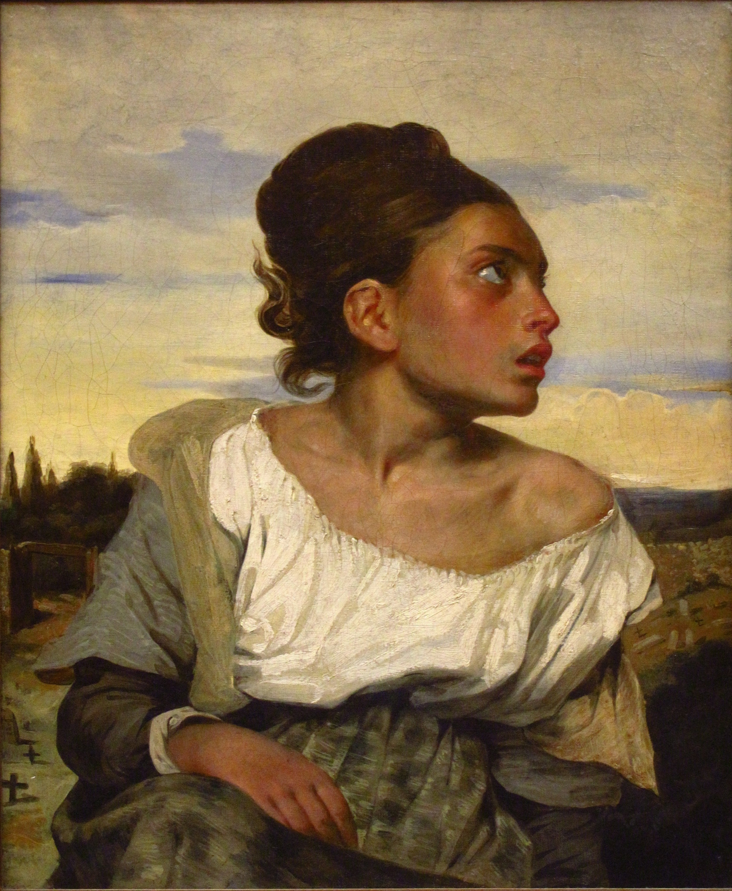 Eugene Delacroix, Orphan Girl at the Cemetery,  c. 1823-1824, Oil on canvas