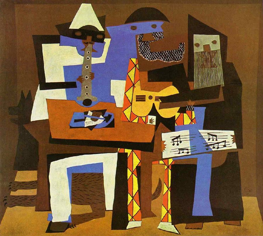 Pablo Picasso, Three Musicians, 1921, Oil on canvas