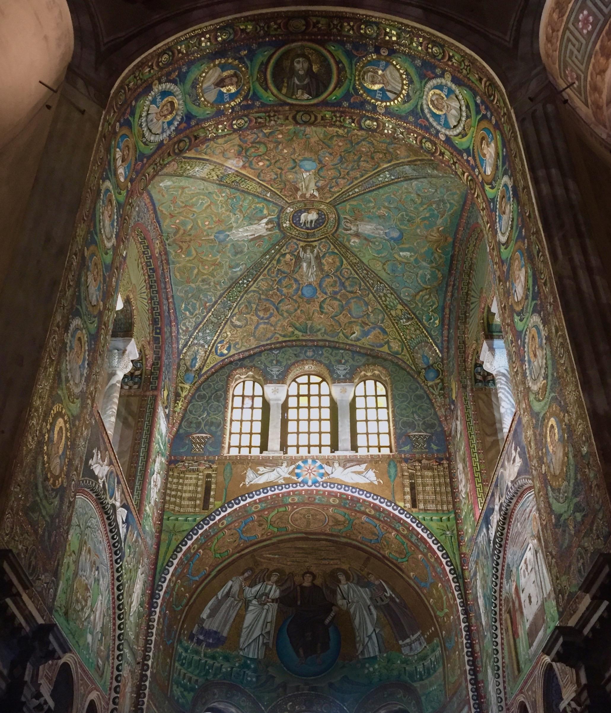 Interior of the Basilica di San Vitale, 526 - 547 A.D.