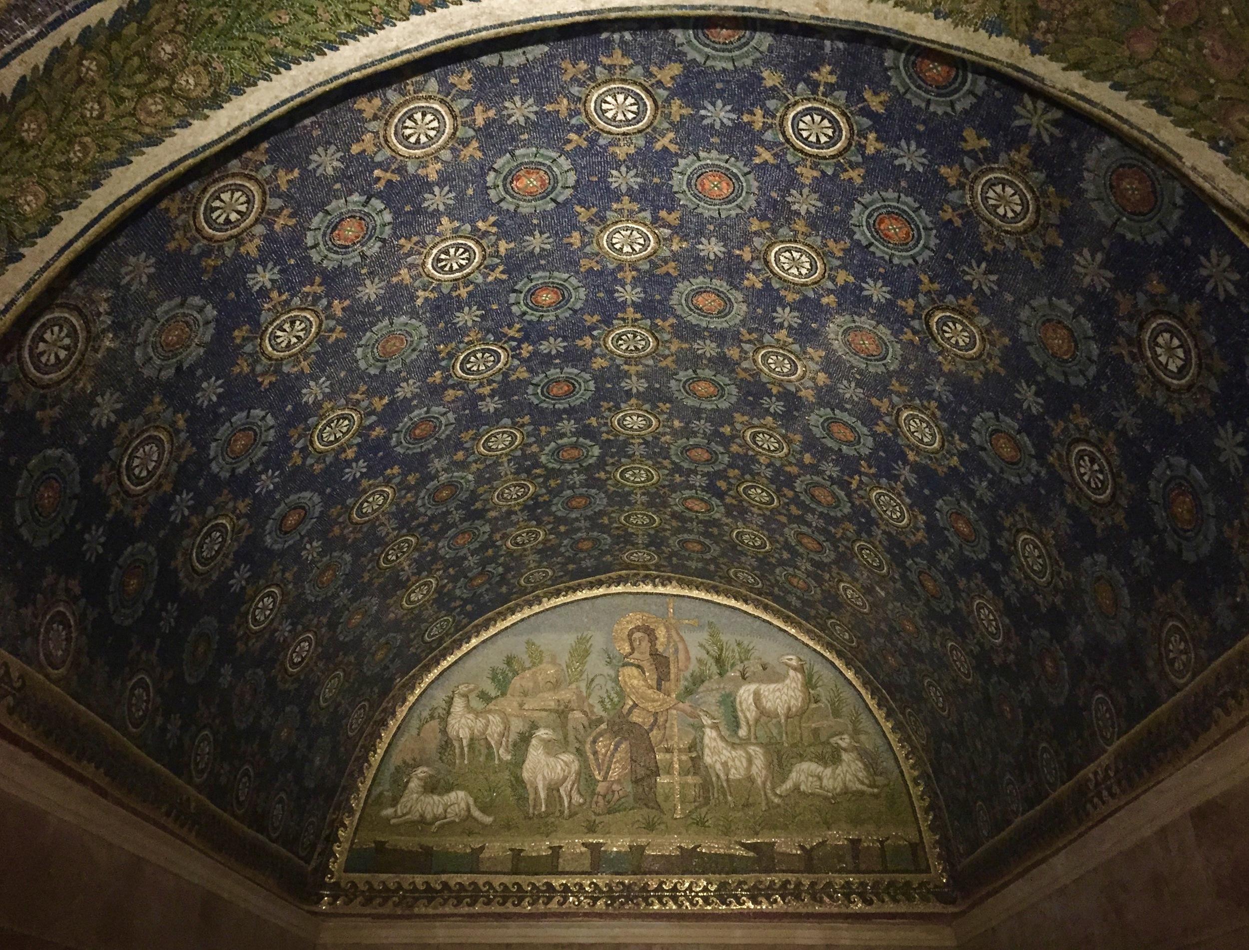 Interior of the Mausoleo di Galla Placidia, 425-450 A.D.
