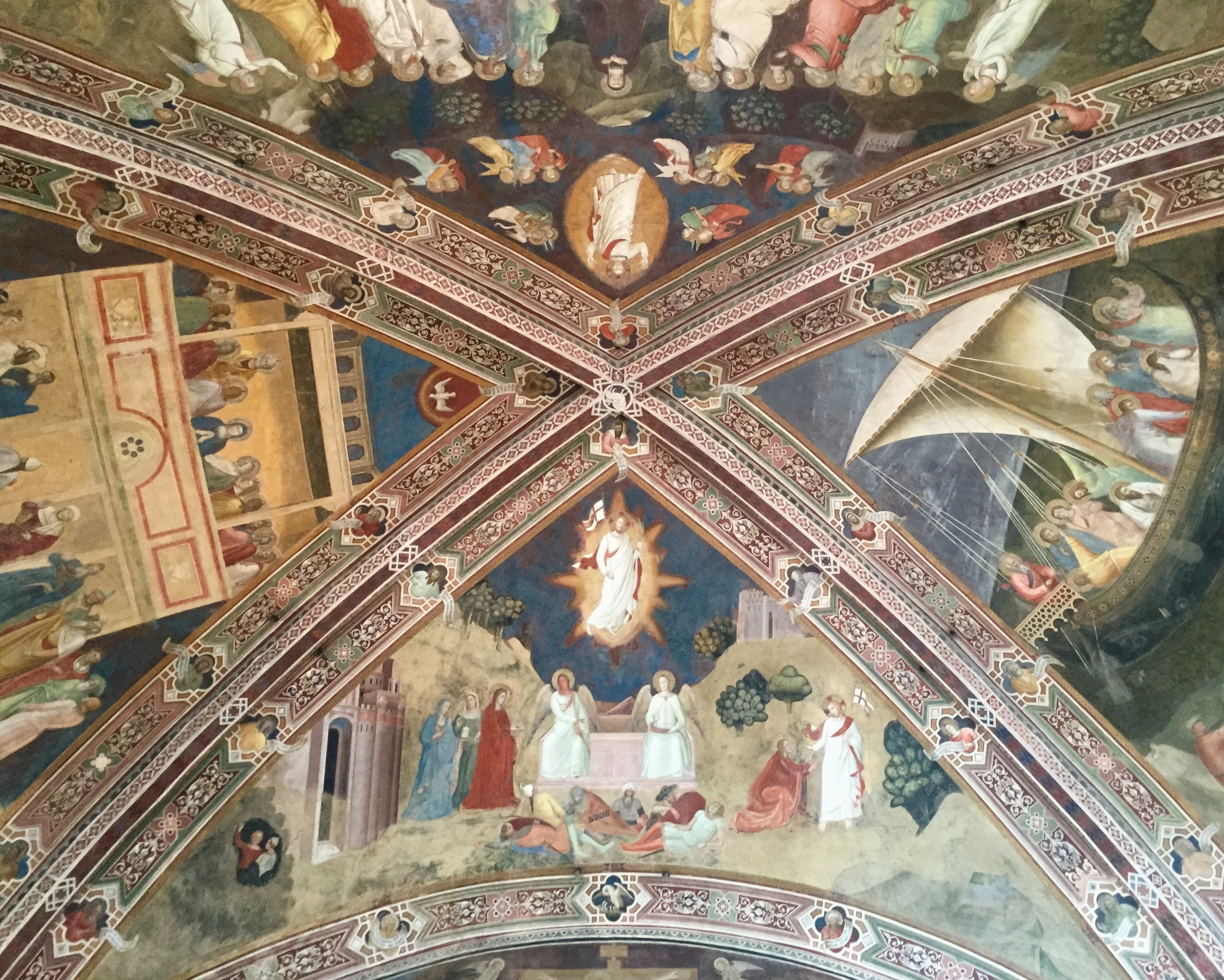 Andrea di Bonaiuto, Ceiling of the Spanish Chapel at Santa Maria Novella, 1365-1367, Fresco