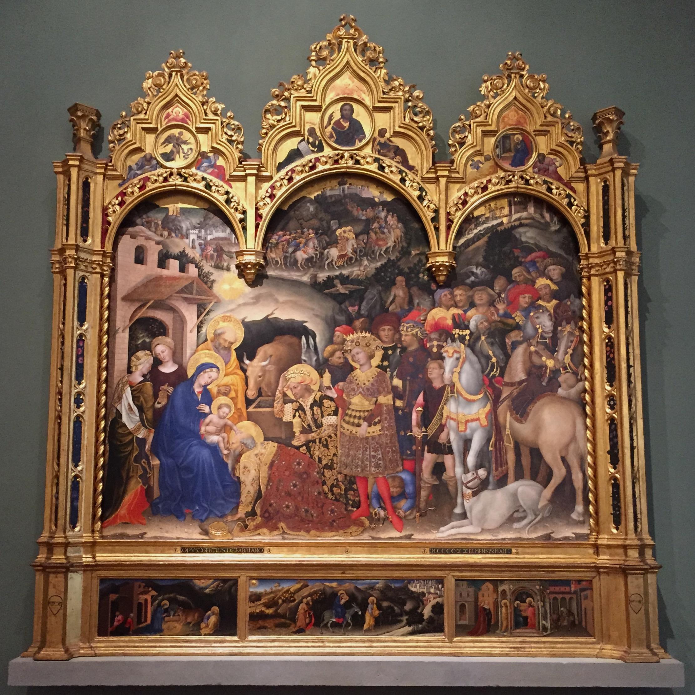 Gentile da Fabriano, The Adoration of the Magi, 1423, Tempera
