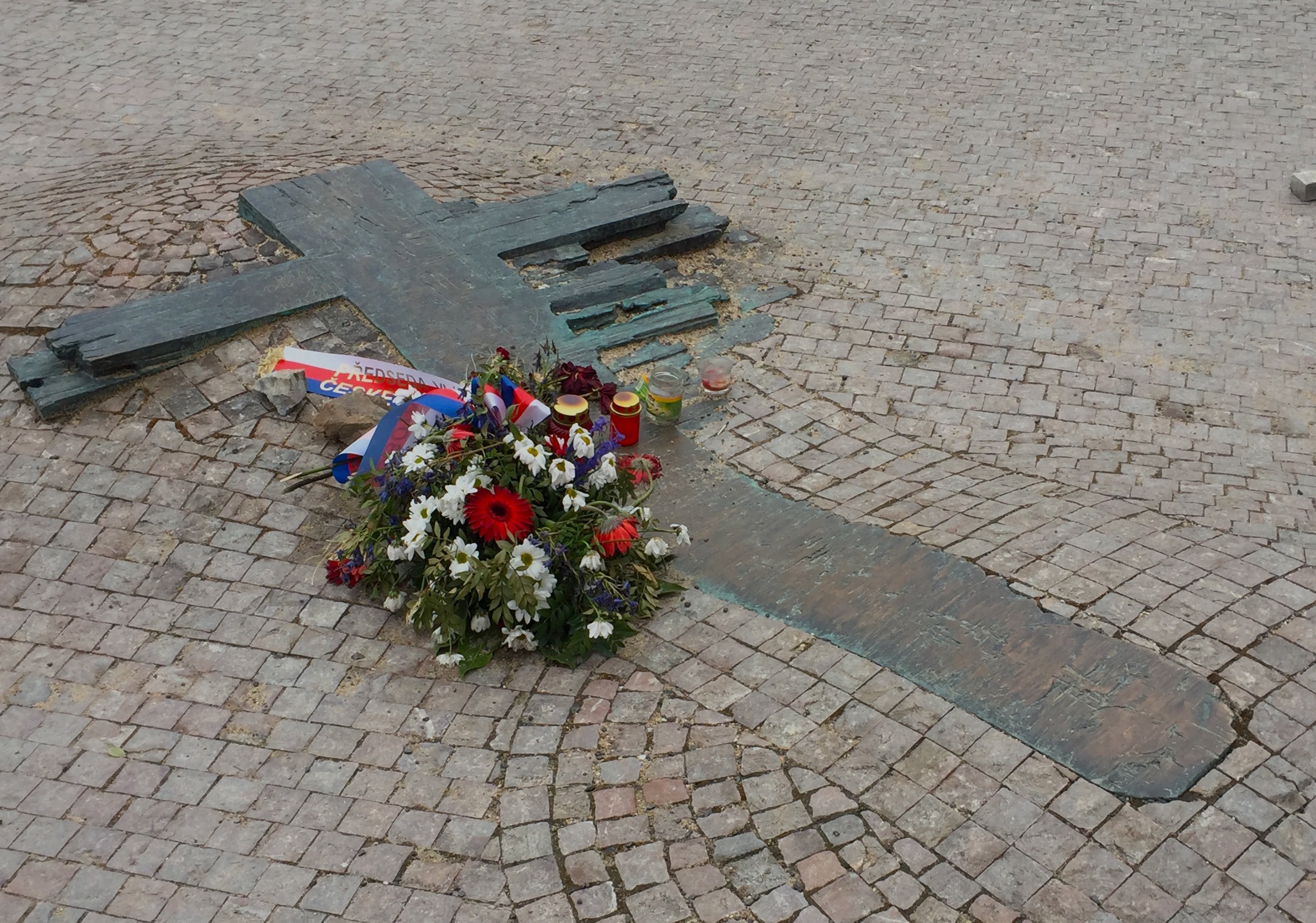 Memorial to Jan Palach and Jan Zajíc in Wenceslaus Square