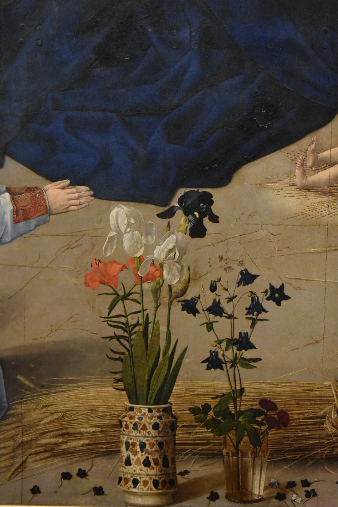 Hugo van der Goes, detail from the  Portinari Altarpiece,  c. 1475, oil on wood