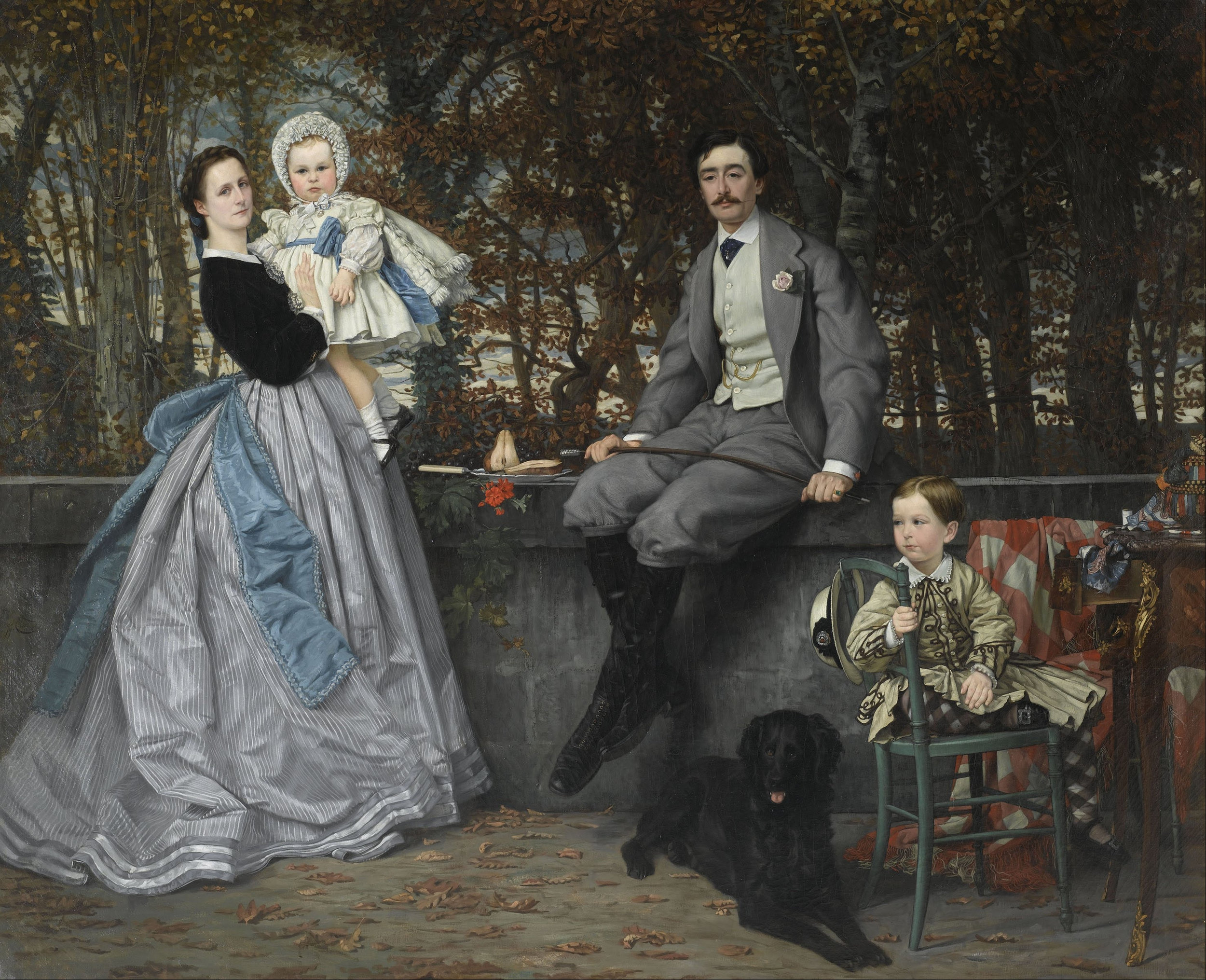 James Tissot,  Portrait of the Marquis and Marchioness of Miramon and Their Children , 1865, Oil on canvas