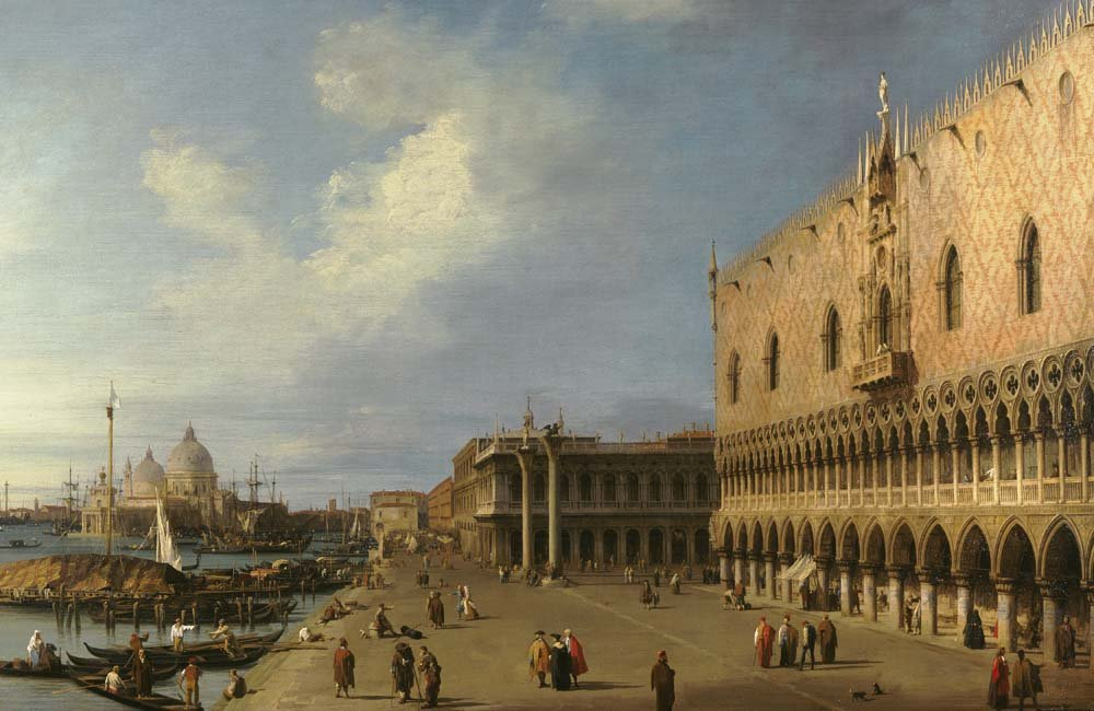 Canaletto,  View of the Ducal Palace in Venice,  before 1755, Oil on canvas