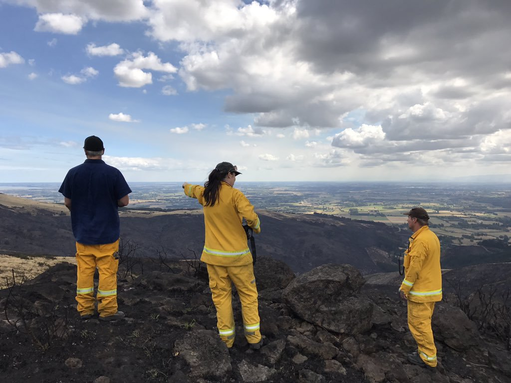touring the christchurch fire burn scar with scion fire research team in new zealand (2017)