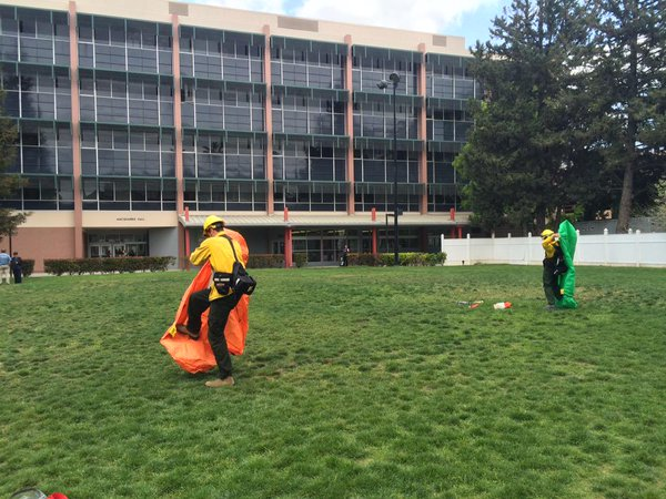 practicing fire shelter deployment as part of rt-130 wildland fire course