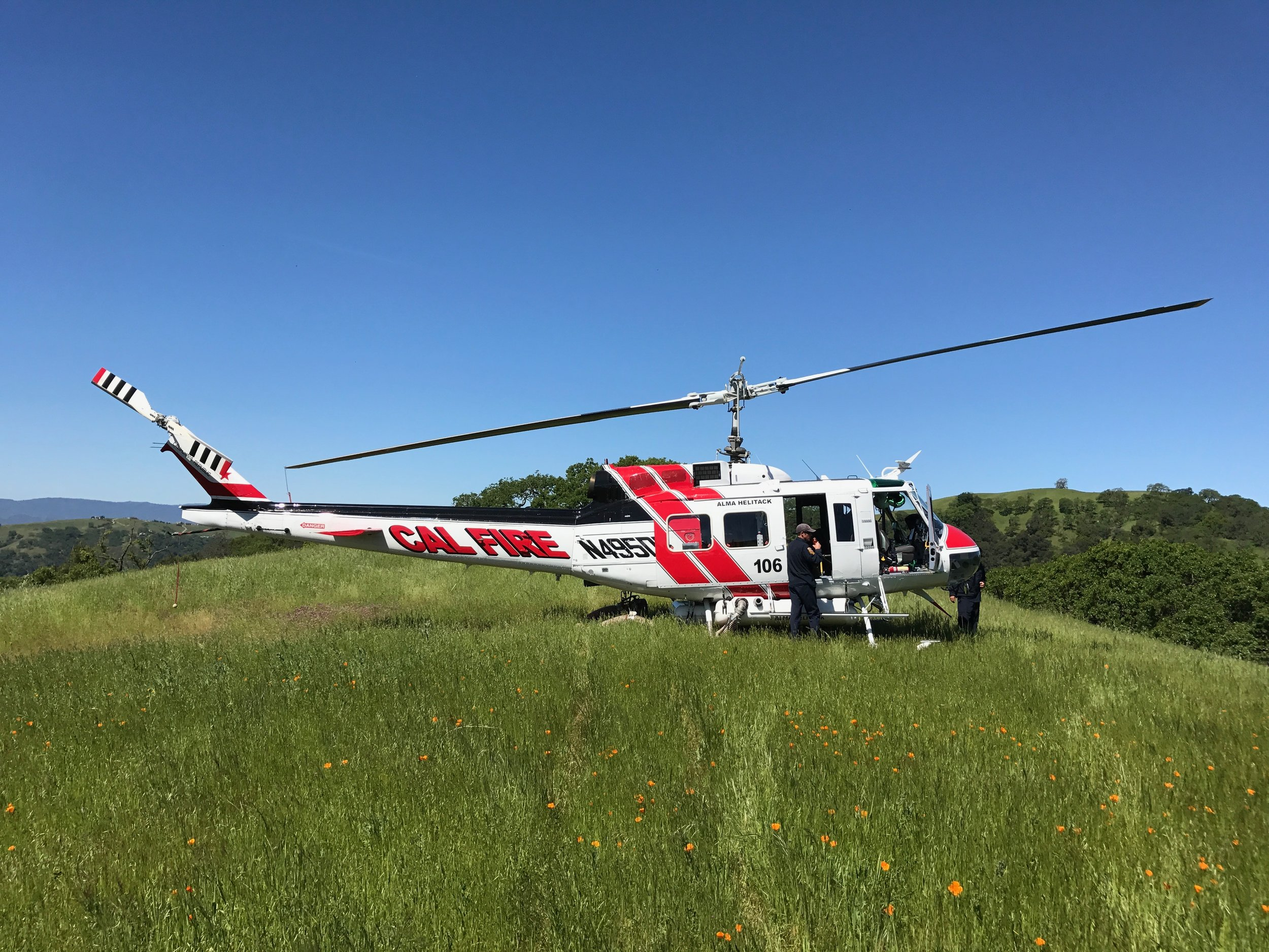 RAWS maintenance with help from Alma Helitack 106. Henry Coe State Park 2017.