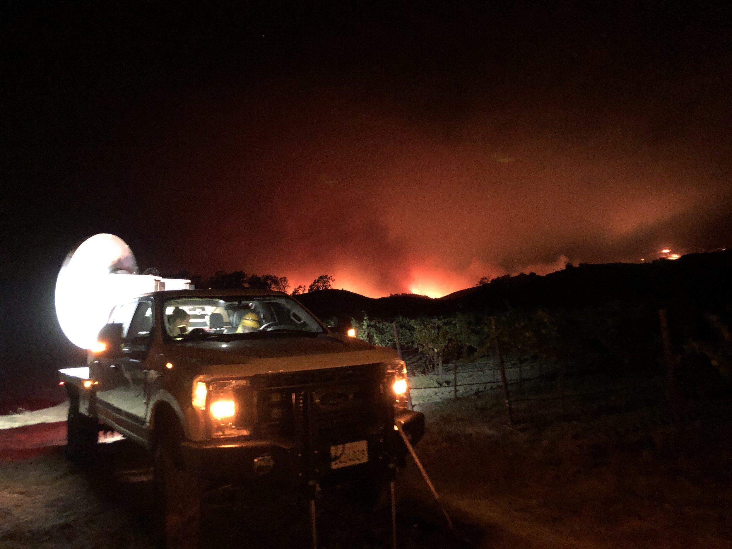 Radar deployment to Kincade Fire, 2019.