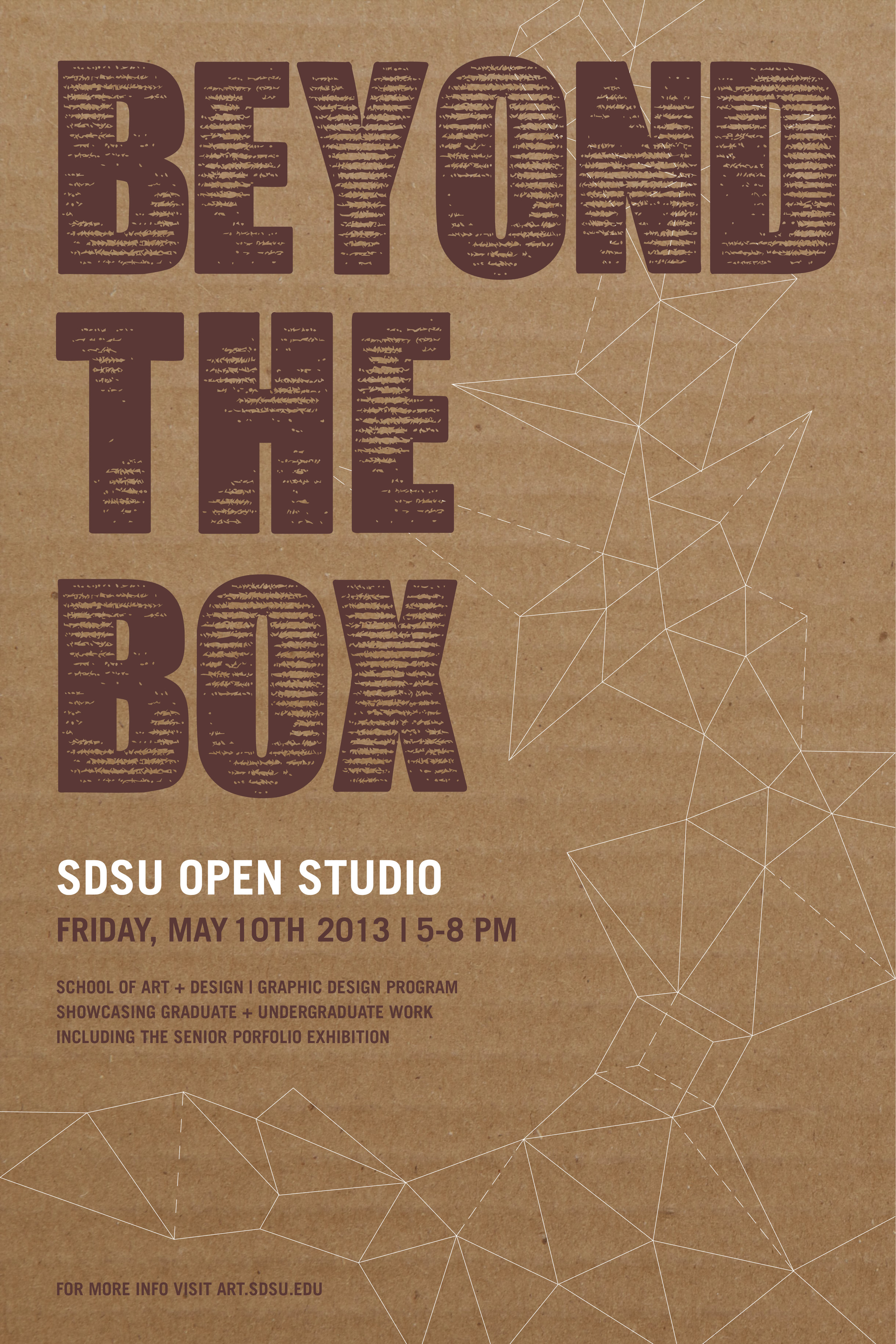 SDSU Open Studio poster created for the Art Department